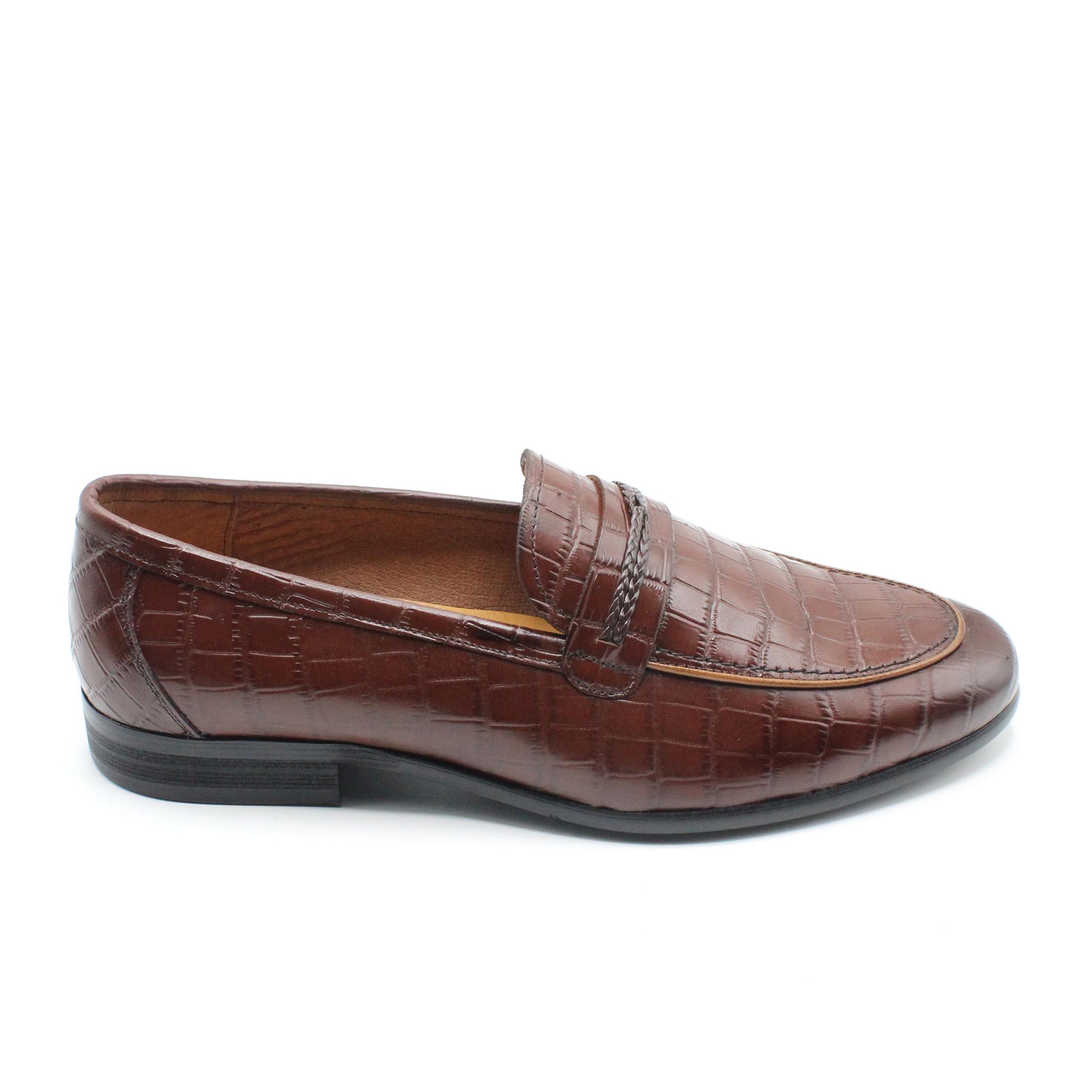 Giày lười da thật hàng hiệu LX 218-4